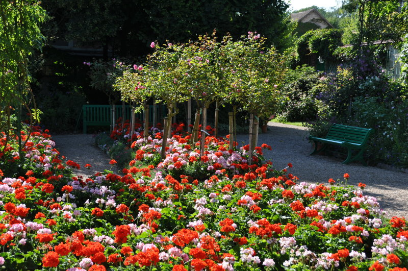 Giverny monet garden part 5 for Cancion jardin de rosas
