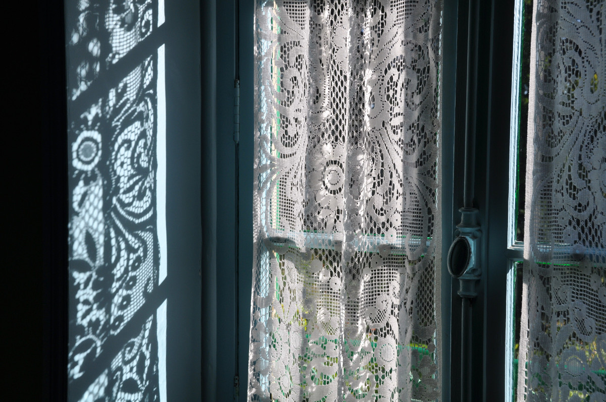 Gray Lace Curtains Home The Honoroak