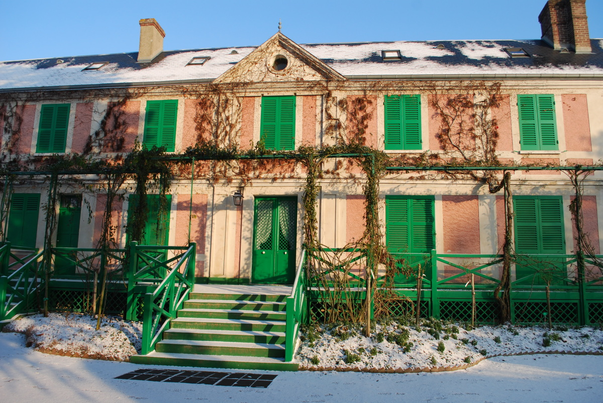 Giverny monet 39 s home in winter for Monet home
